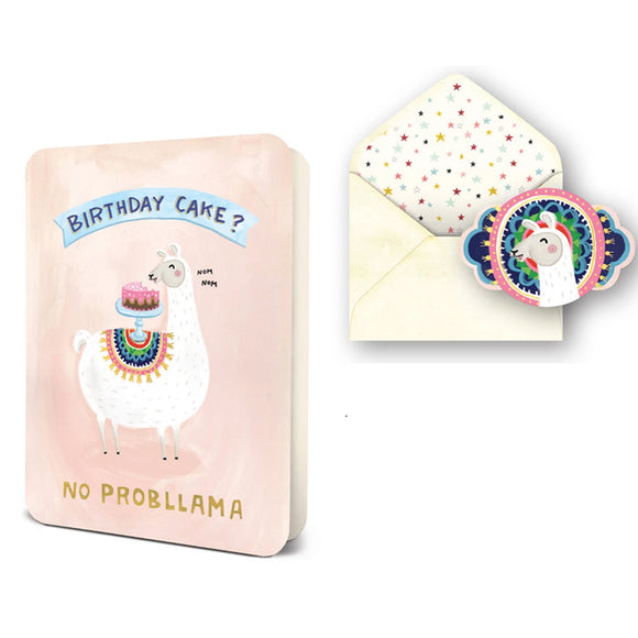 No Probllama Card/Sticker