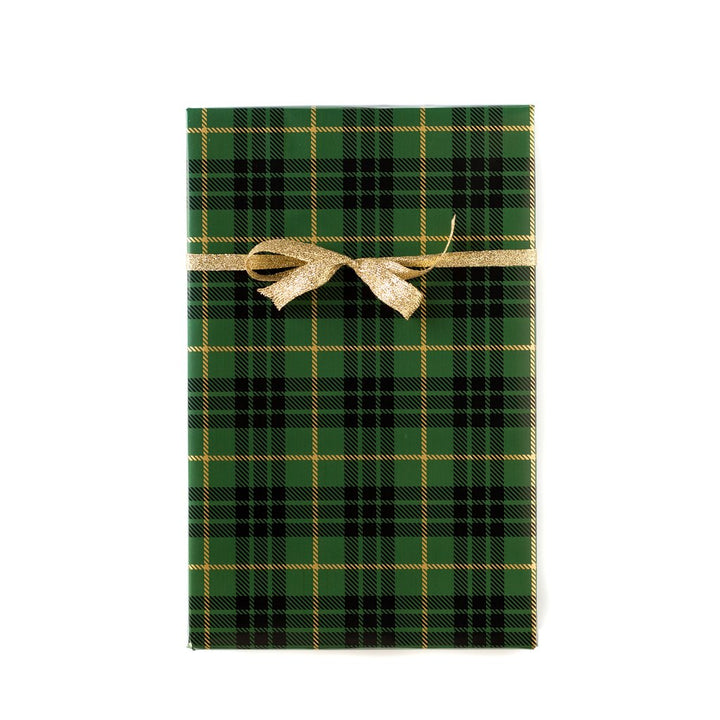 Green/Gold Plaid Wrapping Paper