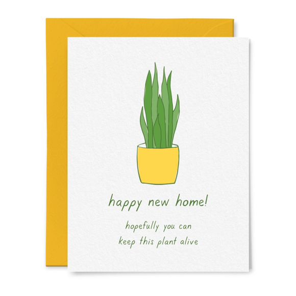 Housewarming Plant Card