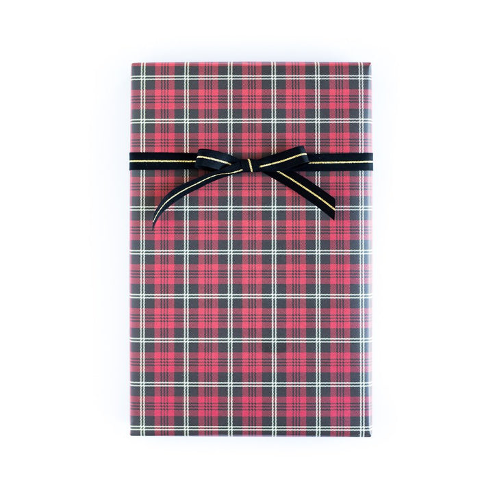Plaid Tartan/Cabana Stripe Wrapping Paper Sheets