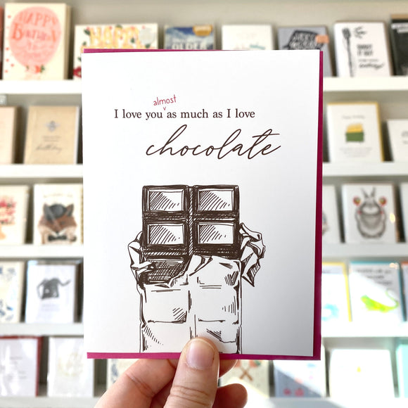 Love You Chocolate Card