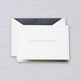 With Deepest Sympathy Note (Set of 10)