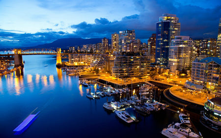 Beautiful Vancouver City Skyline Print