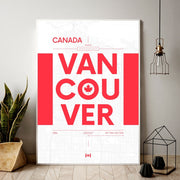 Vancouver British Columbia Canvas Poster