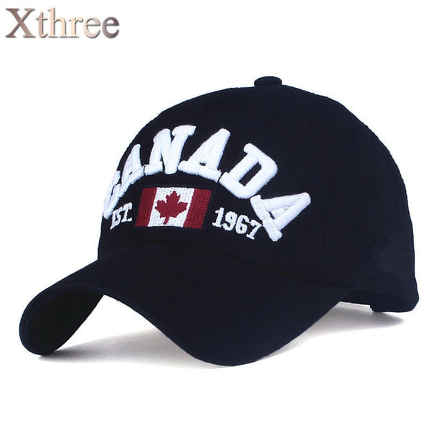 canada letter embroidery Baseball Caps Snapback hat for Men women Leisure Hat cap