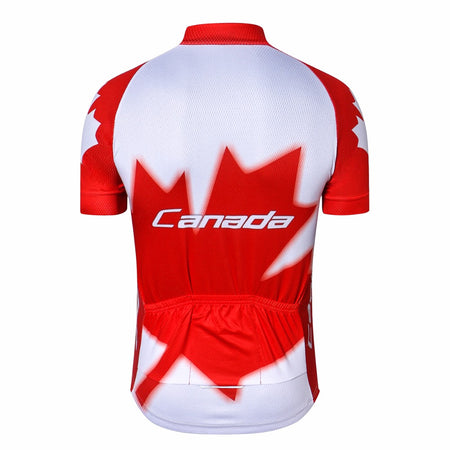 Red CANADA Cycling Jersey Man's Bike Breathable Men's Cycling Clothing Pro Team Bicycle Jersey