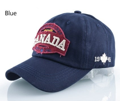 Canada Cotton Snapback Casual Cap Women Hat Letters Patch Hats For Men And Women Bone Feminino