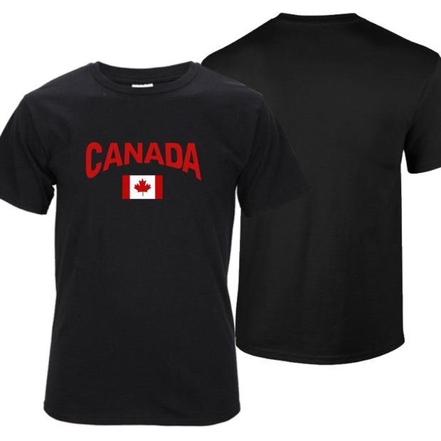 Tops Tee Shirts Vintage Canada Casual T-shirt Male Short Sleeve Pattern O-neck Hipster Tshirts