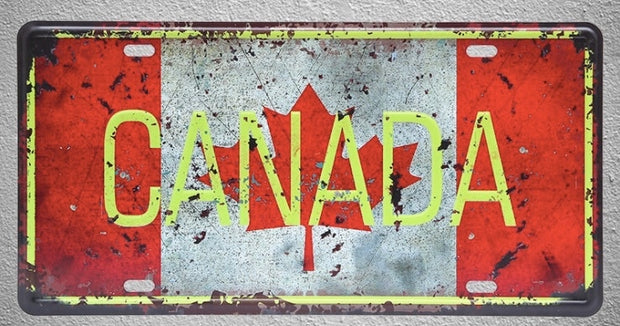 1 pc Canada Vancouver Montreal Ontario Flag plaques shop store Tin Plates Signs wall Decoration Metal Art Vintage Poster