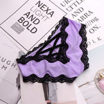 SP&CITY Bandage Deign Hollow Out Silk Sexy Panties Sex Women Lace Underwear Female Lingerie Crotch Cotton Briefs Thongs String