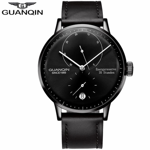 GUANQIN Mens Watches Top Brand Luxury Automatic Date Men Casual Fashion