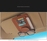 IKSNAIL Auto Car Accessories Sunglasses Clip Car Storage Bag Multifunctional Sun Visor Bill Business Card Holder Storage Box