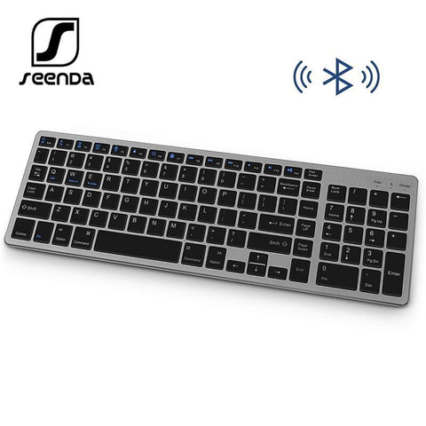 SeenDa Bluetooth Wireless keyboard for Tablet Laptop Smartphone Rechargeable Portable Wireless Keyboard with Number Pad