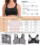 SEXYWG Hot Women Zipper Push Up Sports Bras Vest Underwear Shockproof Breathable Gym Fitness Athletic Running Yoga Bh Sport Tops