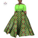 2019 Dashiki  African Dresses For  Women Colorful Daily Wedding Size S-6XL African Dresses For Women Ankle-Length Dress WY3853
