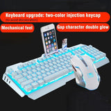 K670 Wireless Rechargeable Gaming Keyboard + Mouse Set LED Backlit Mechanical Feel USB Keyboards Mice Combos
