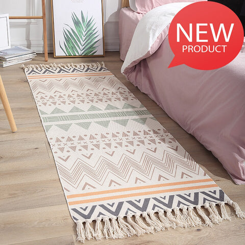 Rugs And Carpets For Home Living Room Bedroom Carpet Modern Area Rug Cotton Woven Boho Rug Soft Carpet Kids Floor Washable Tapis