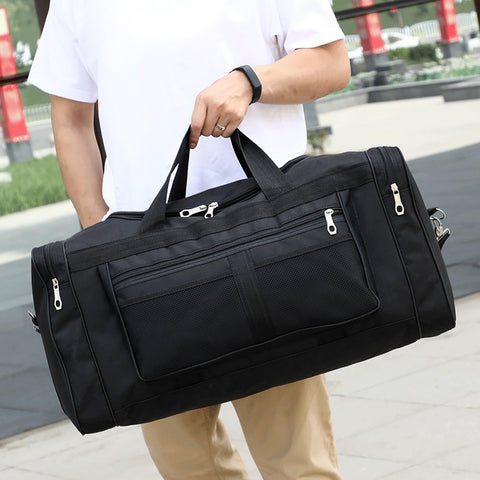Gym Bag Nylon Hand Duffel Sports Bags Men Training Tas for Shoes Fitness