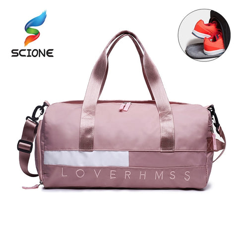 Outdoor Waterproof Nylon Sports Gym Bags Men Women Training Fitness Travel Handbag