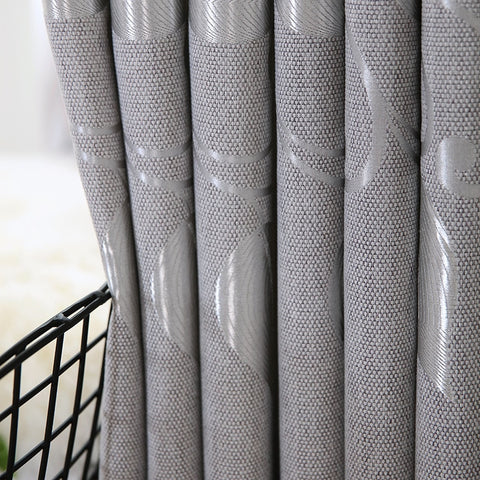 Curtains for Living Dining Room Bedroom Modern Simple Brief Silver Curtain Pure Color Knit Blackout Window Decoration Curtains