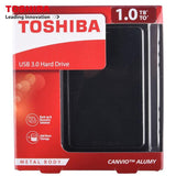 100% Original Toshiba External HDD Canvio Alumy 2.5 Inch USB3.0 1TB Portable Hard Drive Disk 1000GB for Desktop Laptop PC