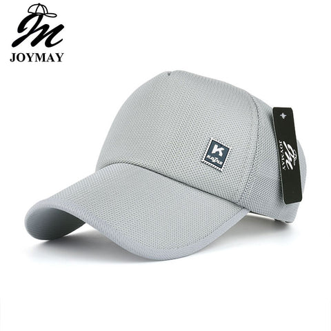 JOYMAY Men Women Summer Snapback Quick Dry Mesh Baseball Cap Sun Hat Bone Breathable Hats B447