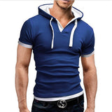 2017 Summer Fashion Hooded Sling Short-Sleeved Tees Male T-Shirt Slim Male Tops 4XL