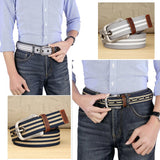 MEDYLA Canvas Belt Pin Buckle Belts Casual Pants Strap Student Youth Military Training Waistband Outdoor Plus Long 100 to 140cm