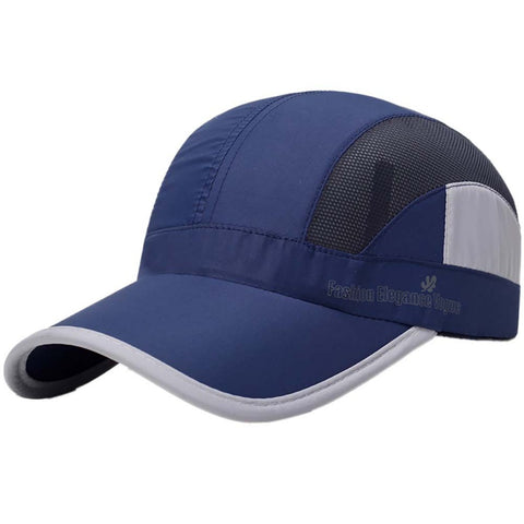 Mesh Quick-drying Cap New Fashion Men Women Sun Hats Quick-drying Cap Casual Hat Adjustable Unisex Hats 5 Colors One Size