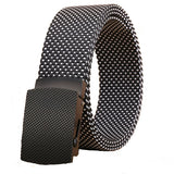 Good quality canvas luxury Knitted nylon belt Automatic Buckles Belts Army Tactical design for men Casualstyle male strap 6