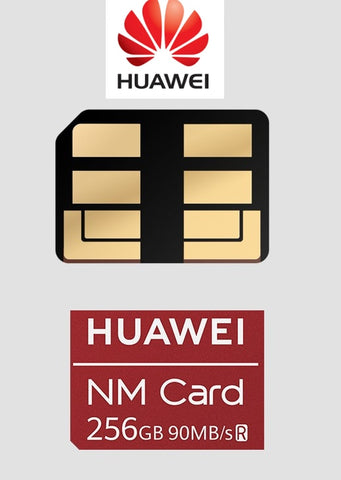 HUAWEI NM Card High Speed 90MB/s 256GB 128GB 64GB Memory Card Share The Same Slot with a Nano SIM Card