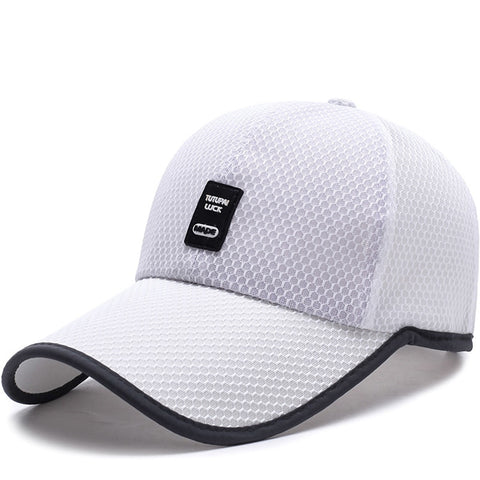 Limited Time Special full mesh cap Summer Breathable Mesh Baseball Cap Quick Drying Hats For Men Blue gray