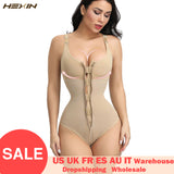 HEXIN Women's Slimming Underwear Bodysuit Body Shaper Waist Shaper Shapewear Postpartum Recovery Slimming Zip and Hook Corset