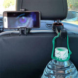 Universal Car Headrest Hook with Phone Holder Multi-function Car Adjustable Hook Hanging Groceries Car Interior Accessories