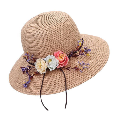 2021 New Summer Female Sun Hat Flower Ribbon Panama Beach Hats For Women Chapeu Feminino Sombrero Floppy Straw Hat