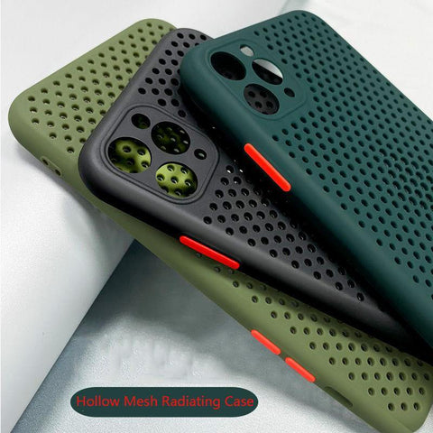 Hollow Cooling  Phone Case Back Cover For iPhone 11 Pro Max Breathable Soft Case For iPhone X XS Max XR SE2 9 8 7 6 6S Plus Case
