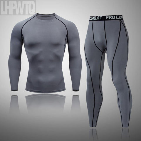 Men's Clothing Winter Clothing Quick Drying Leggings Compression Fitness Winter Mens Thermal Underclothes Tracksuit Shirt