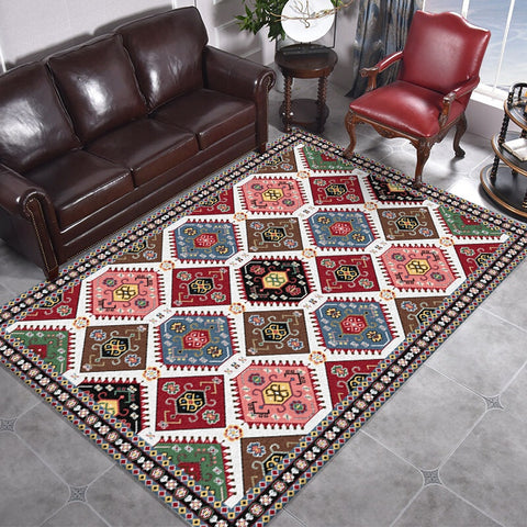 Moroccan Carpets Living Room Bedroom Decor Tapete Classical Persian Style Sofa Coffee Table Non-Slip Floor Mat Study Area Rugs