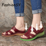 2019 Summer Women Flat Sandals Buckle Strap Ladies Slides Comfortable Home Beach Slip on Wedges Shoes woman Plus Female Slippers