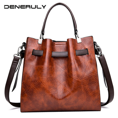 Vintage Lerther Bag For Women Luxury Handbags Women Famous Brand Leather Shouder Bag Ladies Hand Bags High Quality Shoulder Bag