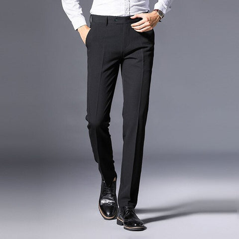 WOLF ZONE Brand Men Pants Casual Mens Business Male Trousers Classics Midweight Straight Full Length Fashion Balck Pant 29-38