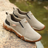 SHANTA 2019 New Men Shoes Genuine Leather Loafers Breathable Spring Autumn Casual Shoes Outdoor Non Slip Men Sneakers