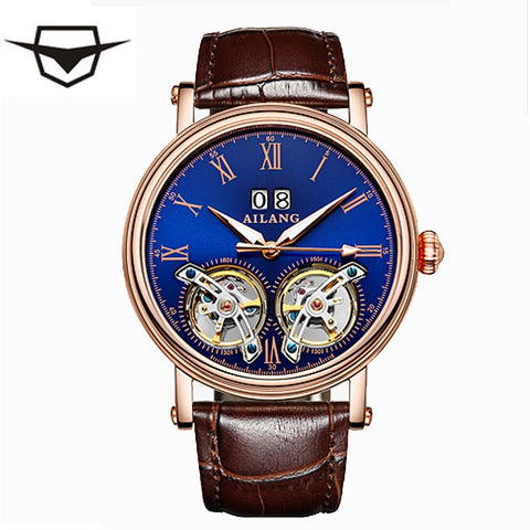 AILANG top brand Expensive Double Tourbillon Switzerland Watches AILANG Original Top Luxury Men's Automatic Man Mechanical watch