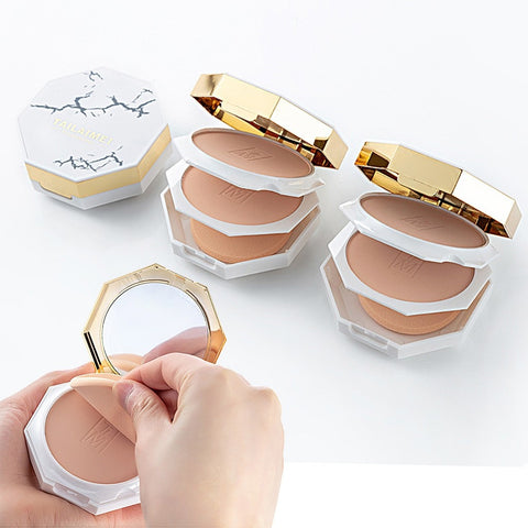 Best selling professional cosmetics marble turtle crack controloil makeup lasting concealer powder maquiagem profissional