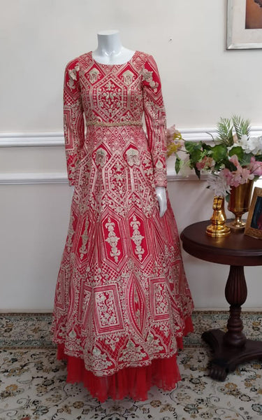 Fully embroidered dress