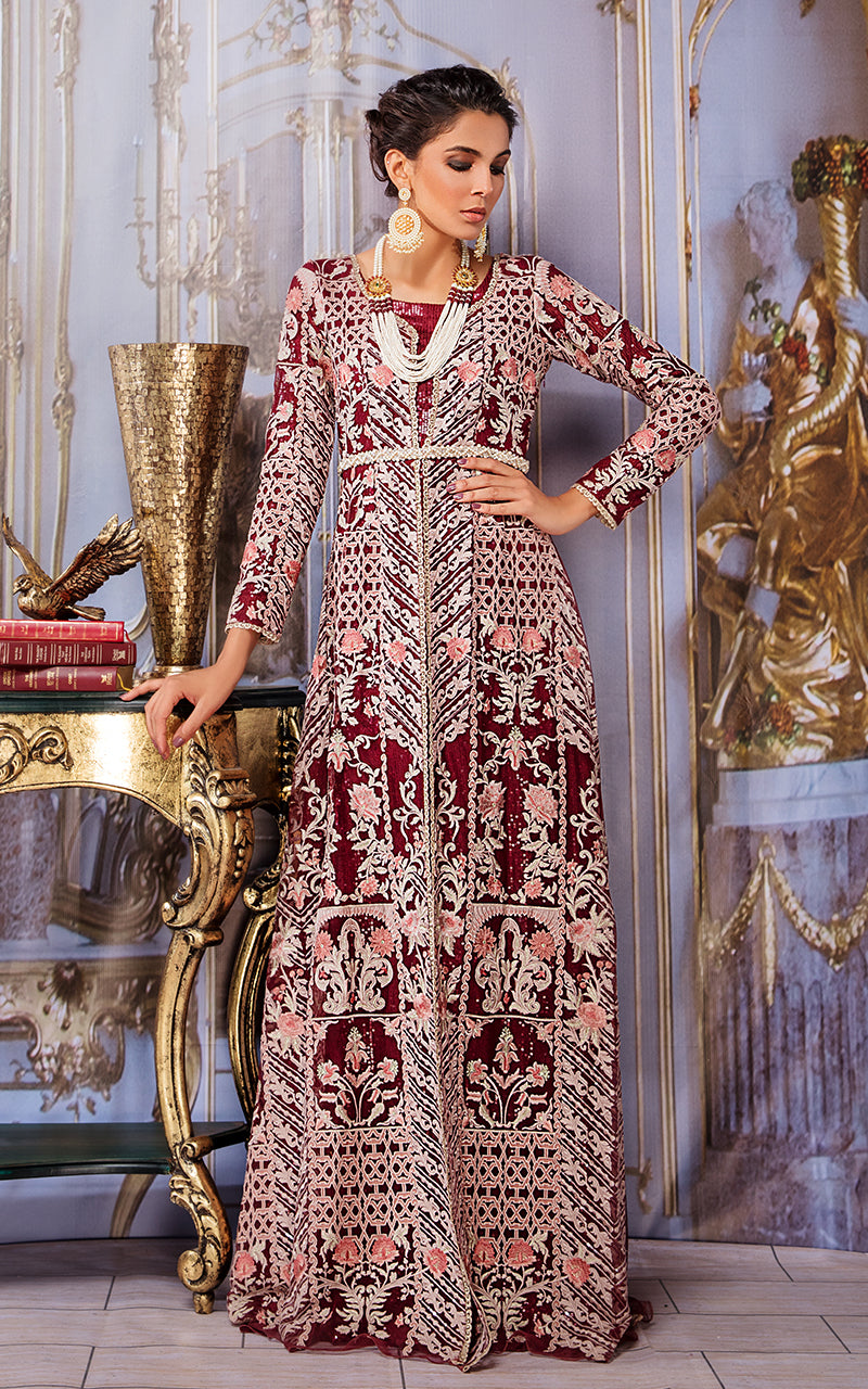 Fully Net Embroidered Dress