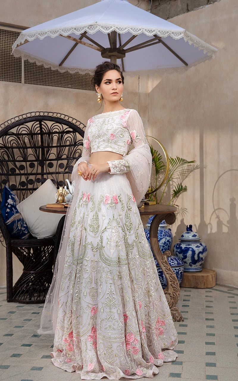 Unstitched lehenga and blouse