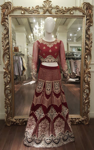 Embroidered Blouse And Lehenga