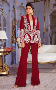 Unstitched Velvet Embroidered Jacket