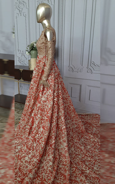 Fully Embroidered Bridal Dress